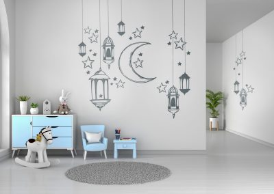 Декорация-с-фолио-на-детска-стая