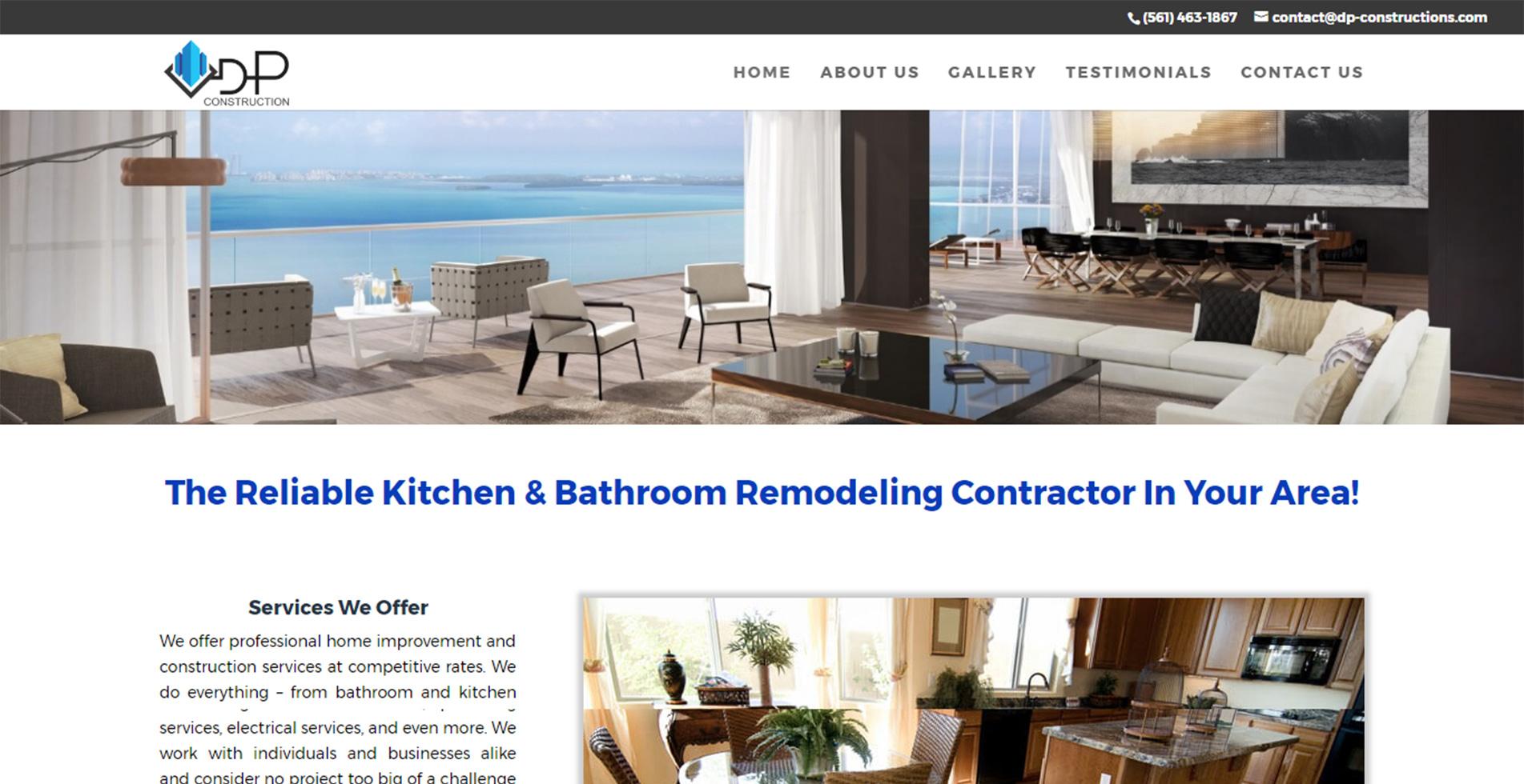 уеб сайт за професионална строителна компания