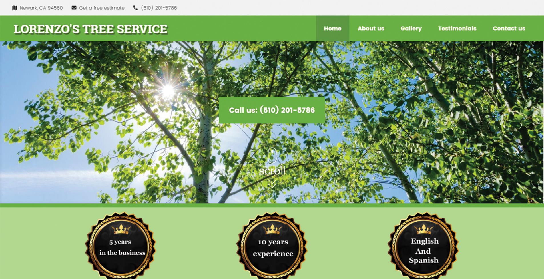 уеб сайт за професионална озеленителна компания