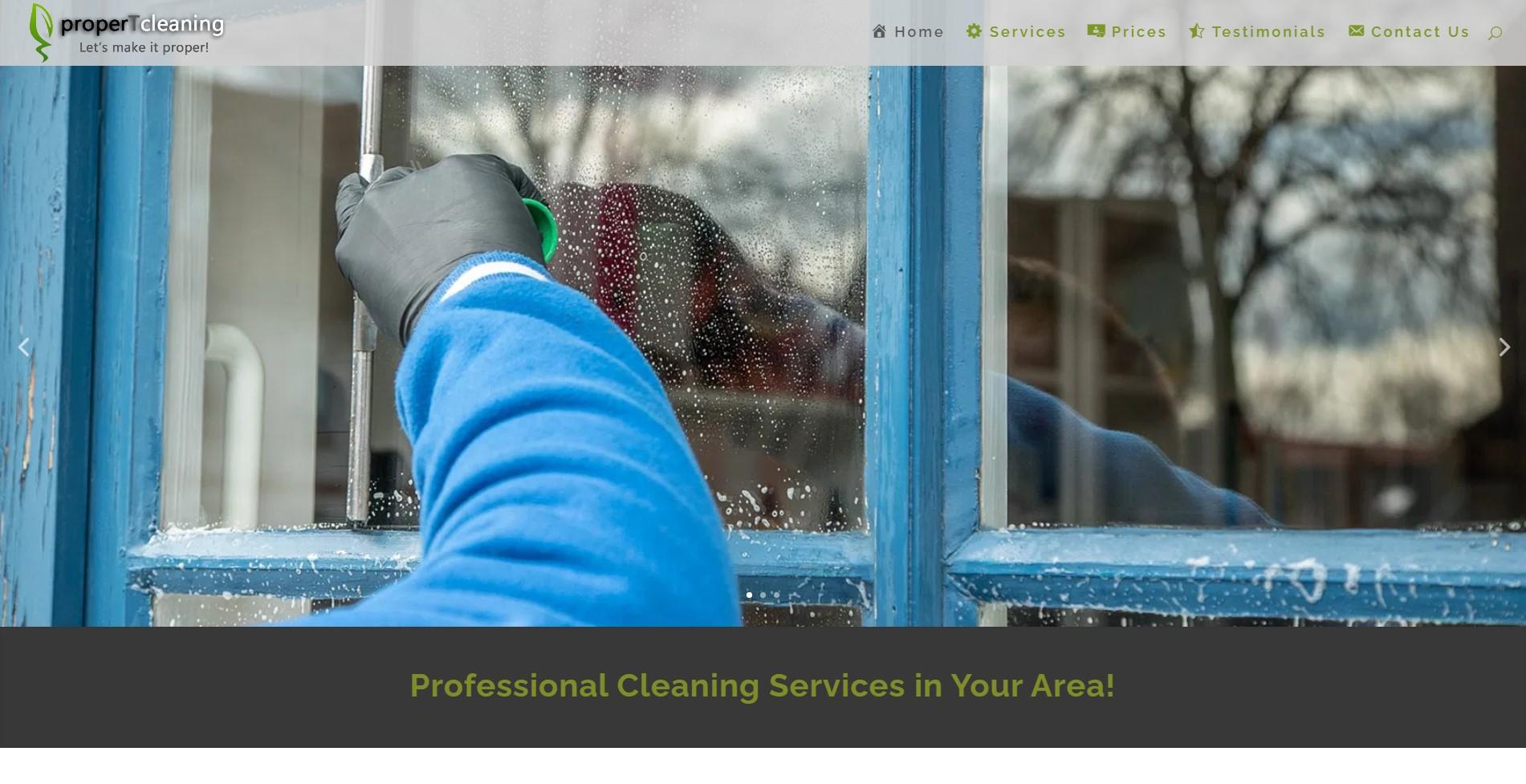 Цялостно изготвяне на уеб сайт за почистваща фирма