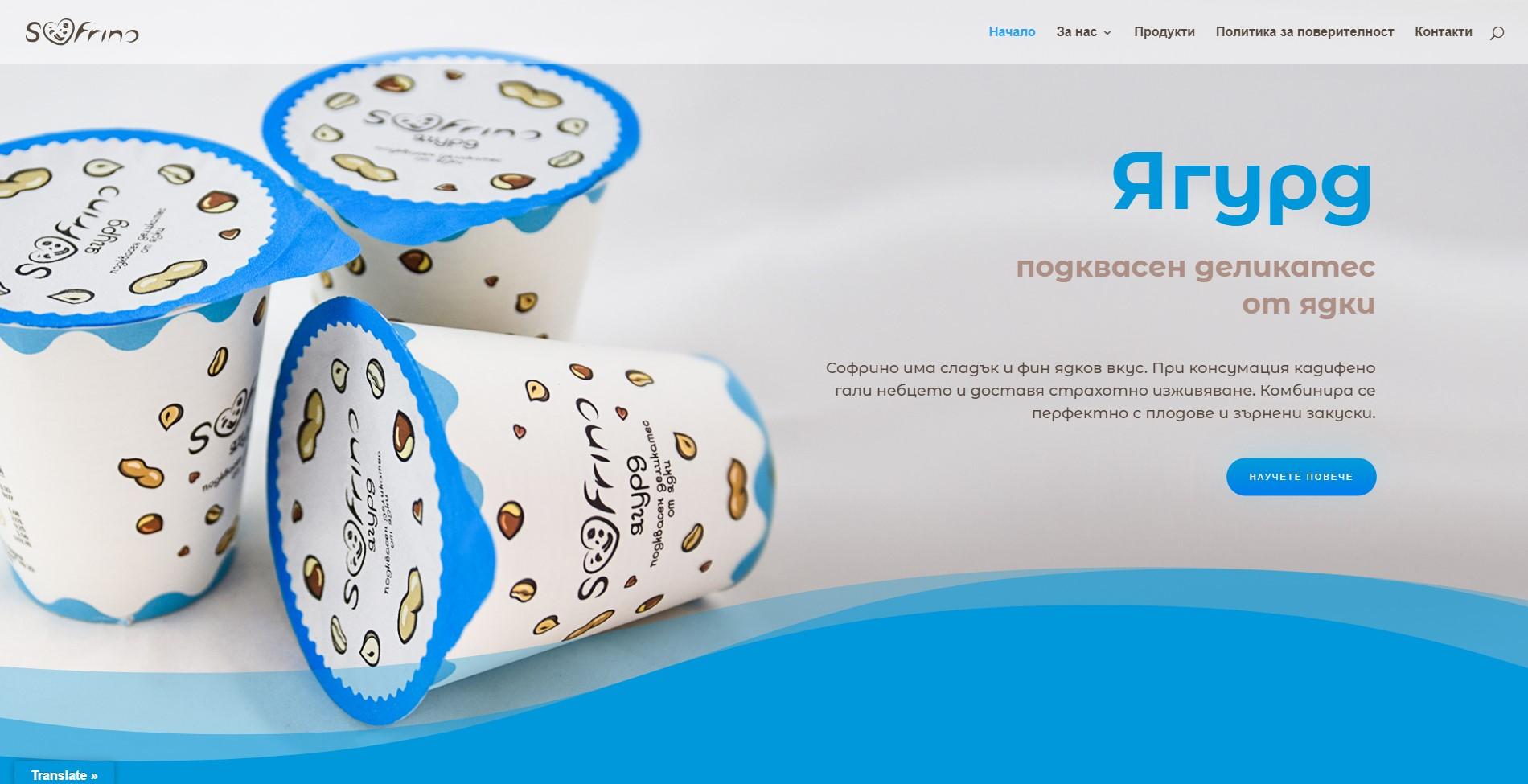 Цялостно изработване на уеб сайт за хранителен продукт