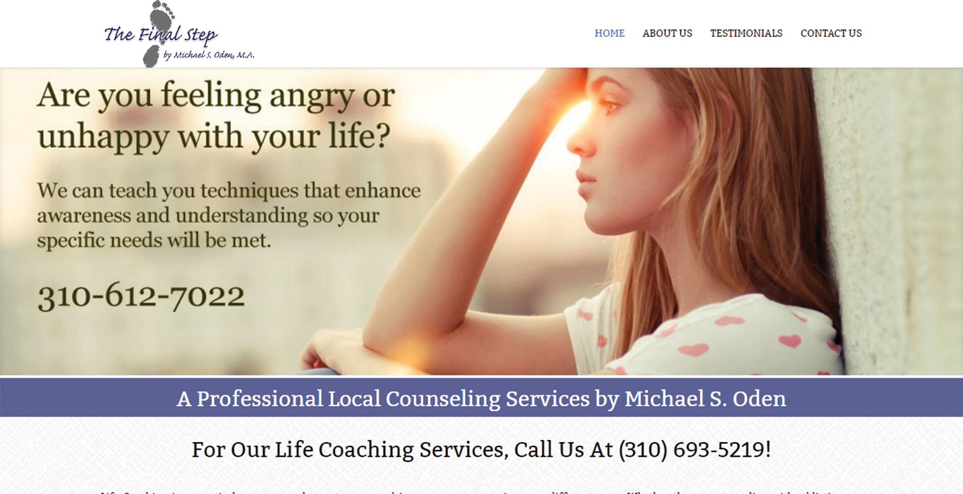 уеб сайт за компания предоставяща професионална психологическа помощ