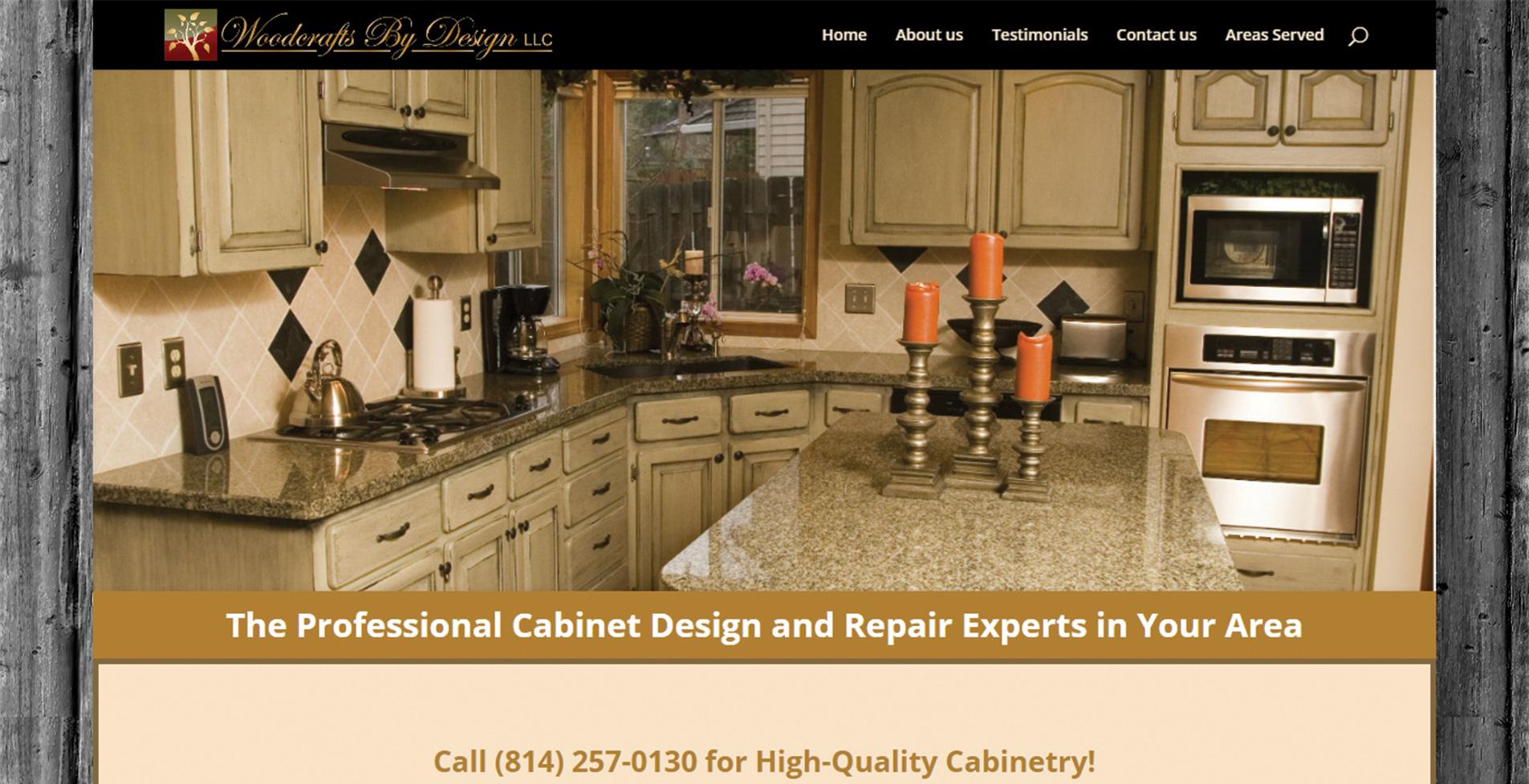 уеб сайт за професионална дърводелска компания